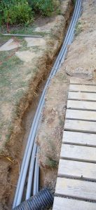 Underground Electrical Conduit Trench