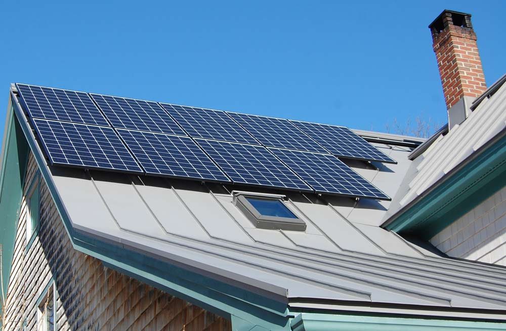 rooftop solar array